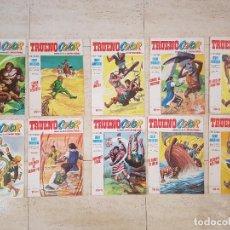 Tebeos: LOTE 10 COMIC TEBEO EL CAPITAN TRUENO BRUGUERA COLOR COLECCION SUPER AVENTURAS AÑO VII 74-217-220-21. Lote 115249439