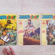Tebeos: LOTE 3 COMIC TEBEO EL JABATO BRUGUERA COLOR COLECCION SUPER AVENTURAS AÑO I 7,2,14 1970. Lote 115295351