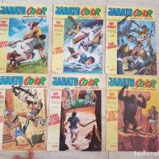 Tebeos: LOTE 6 COMIC TEBEO EL JABATO BRUGUERA COLOR COLECCION SUPER AVENTURAS AÑO II 29,34,24,35,54,32 1970. Lote 115295727