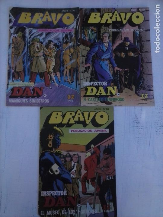 BRAVO INSPECTOR DAN NºS 10 - 16 - 34 (Tebeos y Comics - Bruguera - Inspector Dan)