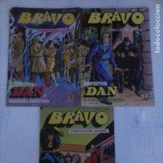 Tebeos: BRAVO INSPECTOR DAN NºS 10 - 16 - 34. Lote 115513767