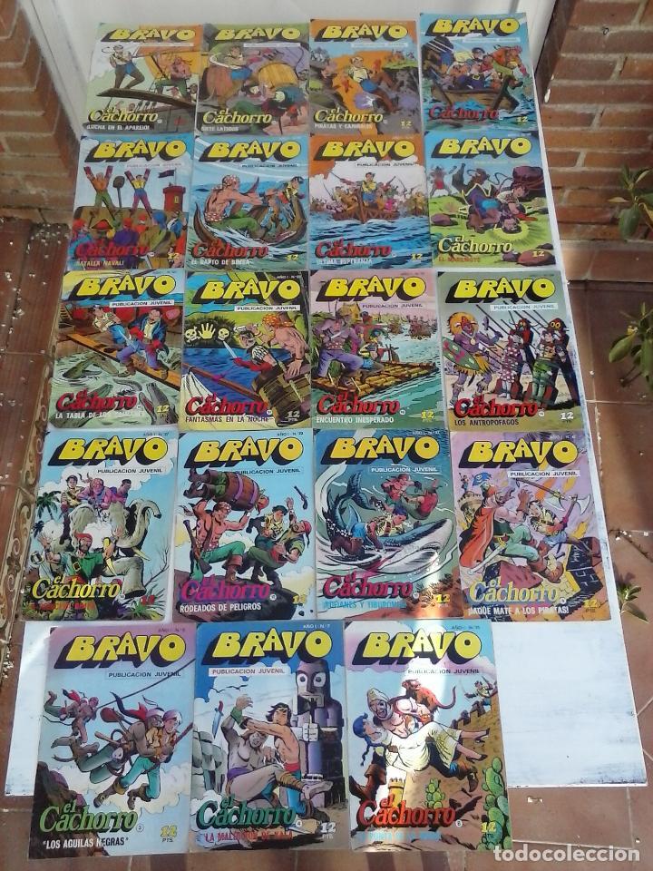 BRAVO EL CACHORRO LOTE 19 NºS - 3,4,8,9,11,12,14,15,16,17,18,20,21,22,24,26,29,37,41 ÚLTIMO (Tebeos y Comics - Bruguera - El Cachorro)