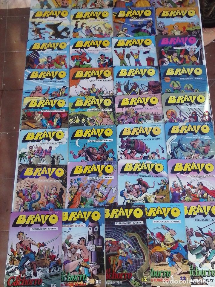 BRAVO EL CACHORRO 33 NºS LOTE - 2 AL 26,29,30,31,33,35,37,39,41 (Tebeos y Comics - Bruguera - El Cachorro)
