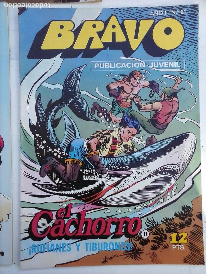 Tebeos: BRAVO EL CACHORRO 33 NºS LOTE - 2 AL 26,29,30,31,33,35,37,39,41 - Foto 40 - 115516223