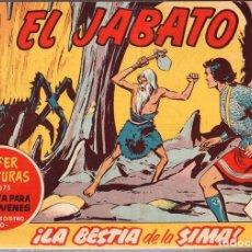 Tebeos: EL JABATO. TOMO ENCUADERNADO NUMEROS 181 AL 240. AÑOS 1962-1963. ORIGINAL, NO REEDICION. Lote 115551430