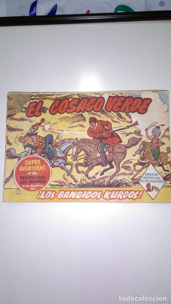 EL COSACO VERDE (BRUGUERA) ORIGINALES 1960 (LOTE DE 44 Nº) (Tebeos y Comics - Bruguera - Cosaco Verde)