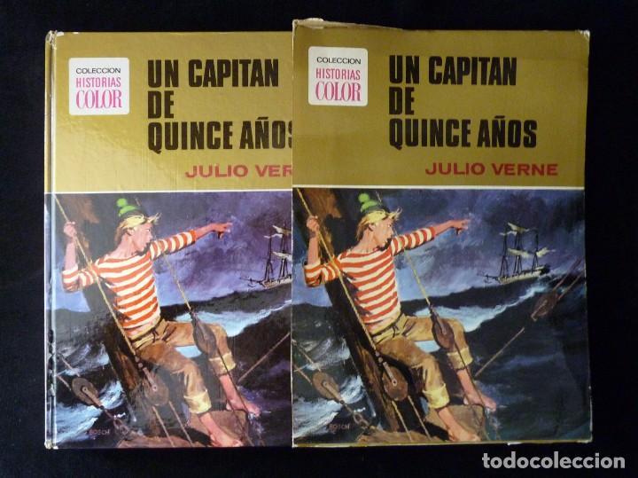 HISTORIAS COLOR. UN CAPITAN DE QUINCE AÑOS. Nº 10. BRUGUERA 1972. ESTUCHE (Tebeos y Comics - Bruguera - Otros)