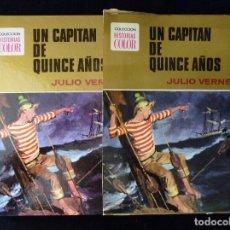 Tebeos: HISTORIAS COLOR. UN CAPITAN DE QUINCE AÑOS. Nº 10. BRUGUERA 1972. ESTUCHE. Lote 116226547