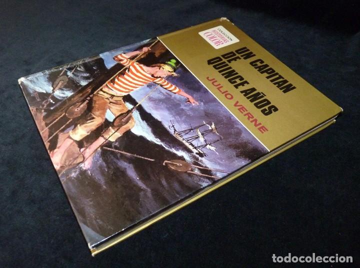 Tebeos: HISTORIAS COLOR. UN CAPITAN DE QUINCE AÑOS. Nº 10. BRUGUERA 1972. ESTUCHE - Foto 4 - 116226547
