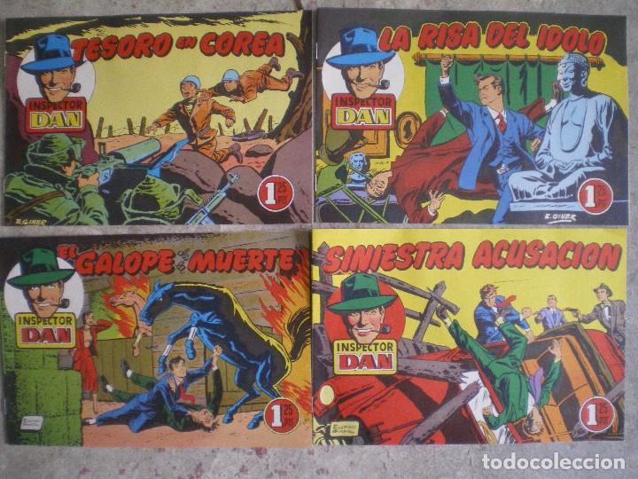 LOTE 4 NÚMEROS DEL INSPECTOR DAN. EUGENIO GINER. EDITORIAL BRUGUERA (Tebeos y Comics - Bruguera - Inspector Dan)