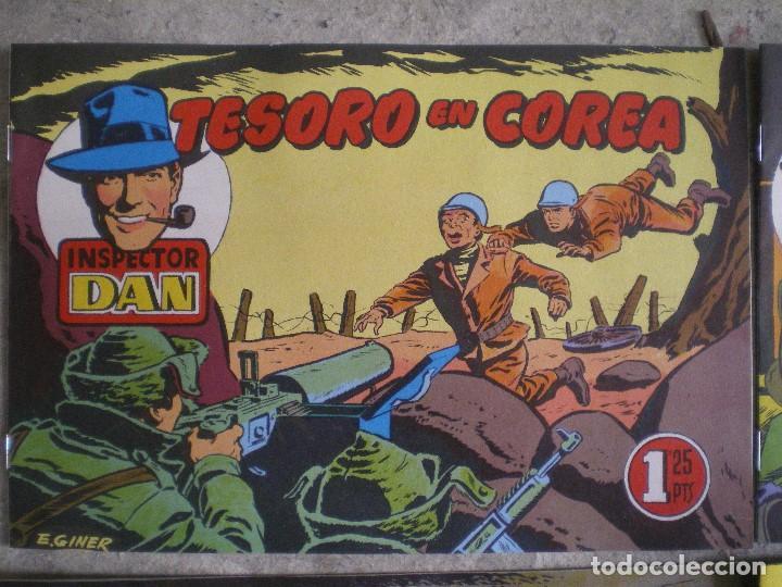 Tebeos: LOTE 4 NÚMEROS DEL INSPECTOR DAN. EUGENIO GINER. EDITORIAL BRUGUERA - Foto 2 - 116249347