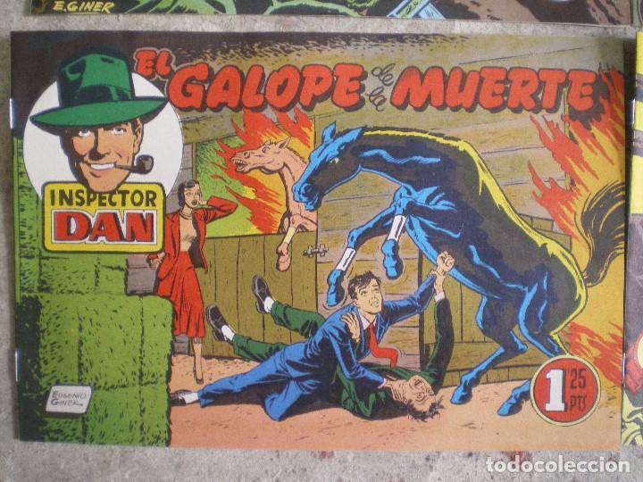 Tebeos: LOTE 4 NÚMEROS DEL INSPECTOR DAN. EUGENIO GINER. EDITORIAL BRUGUERA - Foto 4 - 116249347