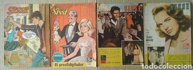 LOTE SISSI, REVISTA JUVENIL FEMENINA (BRUGUERA, 1962-1963). NÚMEROS 134/191-149/196-248-251. (Tebeos y Comics - Bruguera - Sissi)