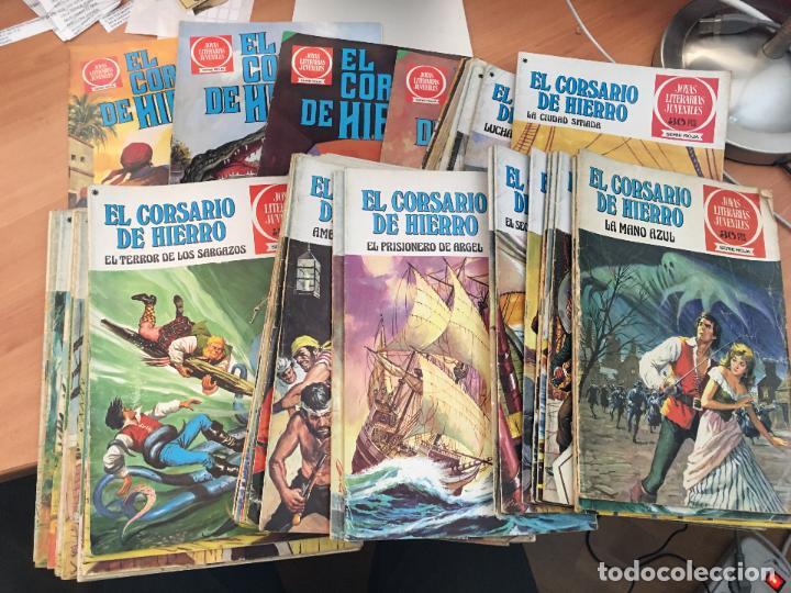 EL CORSARIO DE HIERRO COLECCION COMPLETA 1ª EDICIÓN JOYAS LITERARIAS SERIE ROJA BRUGUERA COIB111 (Tebeos y Comics - Bruguera - Corsario de Hierro)