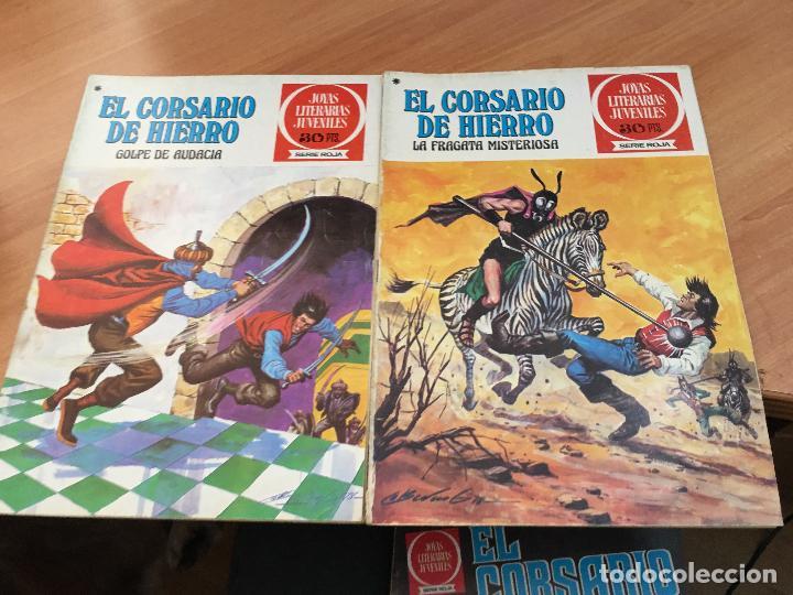 Tebeos: EL CORSARIO DE HIERRO COLECCION COMPLETA 1ª EDICIÓN JOYAS LITERARIAS SERIE ROJA BRUGUERA COIB111 - Foto 6 - 116624703