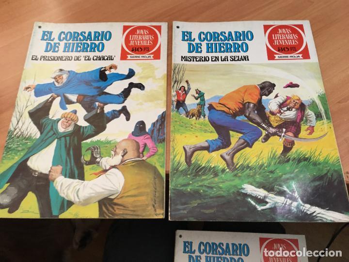 Tebeos: EL CORSARIO DE HIERRO COLECCION COMPLETA 1ª EDICIÓN JOYAS LITERARIAS SERIE ROJA BRUGUERA COIB111 - Foto 7 - 116624703