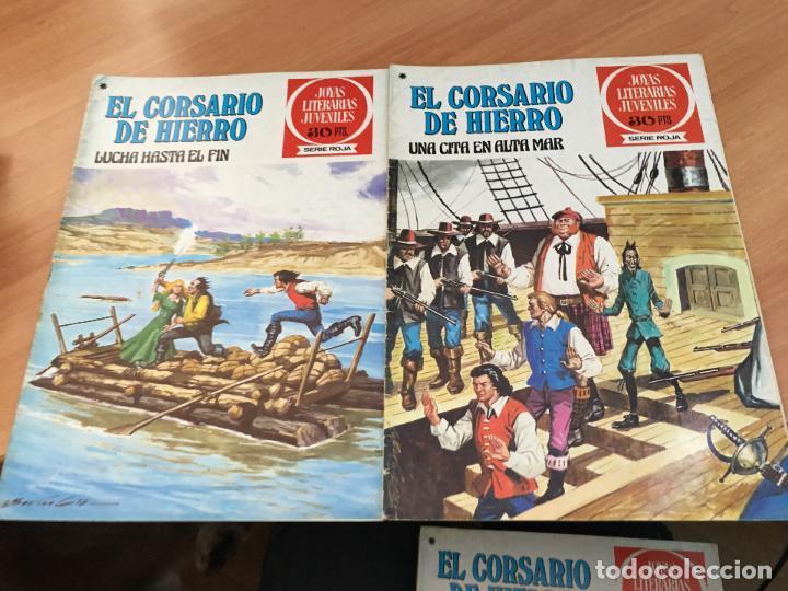 Tebeos: EL CORSARIO DE HIERRO COLECCION COMPLETA 1ª EDICIÓN JOYAS LITERARIAS SERIE ROJA BRUGUERA COIB111 - Foto 9 - 116624703