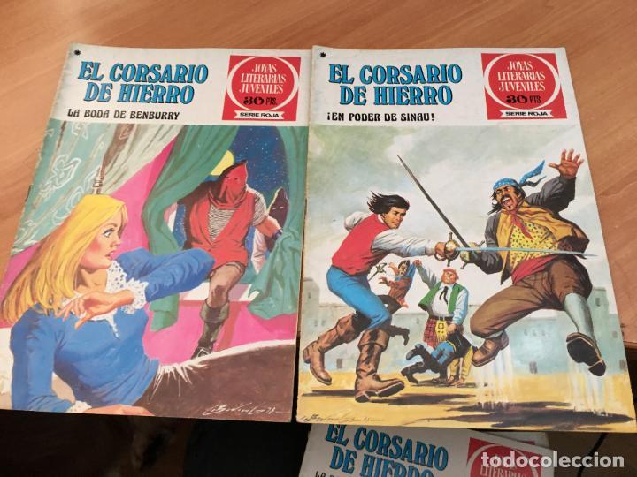 Tebeos: EL CORSARIO DE HIERRO COLECCION COMPLETA 1ª EDICIÓN JOYAS LITERARIAS SERIE ROJA BRUGUERA COIB111 - Foto 10 - 116624703