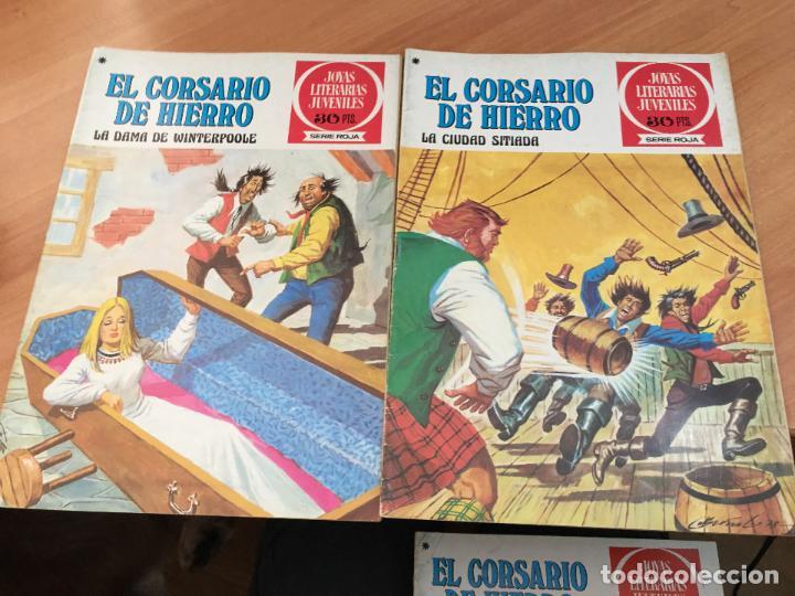 Tebeos: EL CORSARIO DE HIERRO COLECCION COMPLETA 1ª EDICIÓN JOYAS LITERARIAS SERIE ROJA BRUGUERA COIB111 - Foto 11 - 116624703