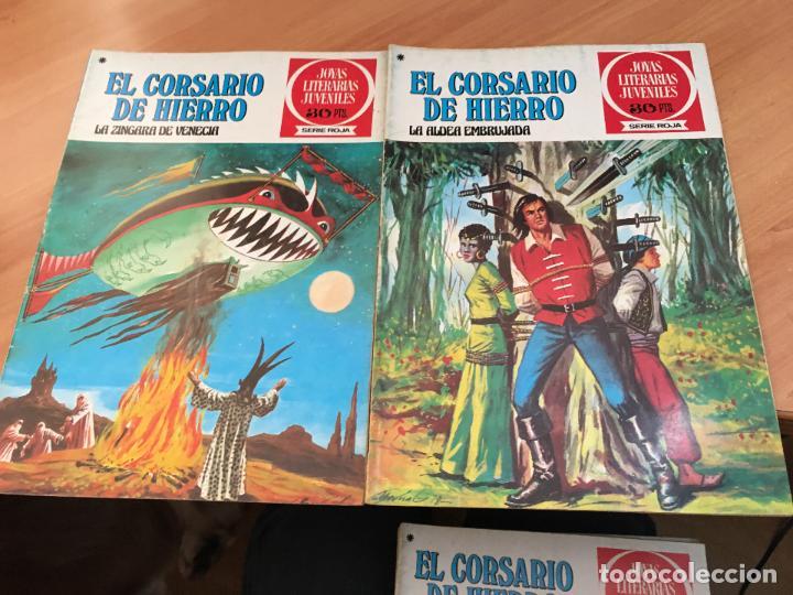 Tebeos: EL CORSARIO DE HIERRO COLECCION COMPLETA 1ª EDICIÓN JOYAS LITERARIAS SERIE ROJA BRUGUERA COIB111 - Foto 12 - 116624703