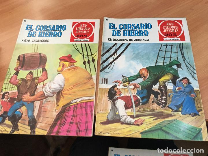Tebeos: EL CORSARIO DE HIERRO COLECCION COMPLETA 1ª EDICIÓN JOYAS LITERARIAS SERIE ROJA BRUGUERA COIB111 - Foto 15 - 116624703