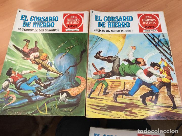 Tebeos: EL CORSARIO DE HIERRO COLECCION COMPLETA 1ª EDICIÓN JOYAS LITERARIAS SERIE ROJA BRUGUERA COIB111 - Foto 16 - 116624703