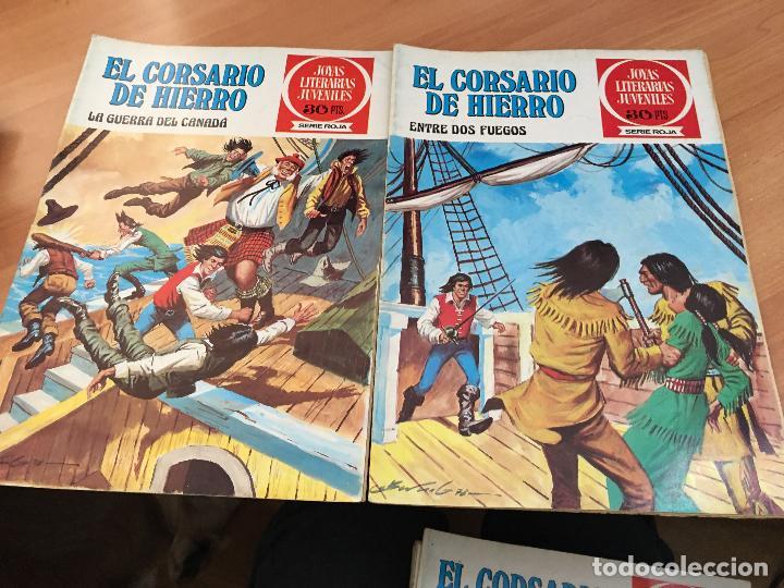 Tebeos: EL CORSARIO DE HIERRO COLECCION COMPLETA 1ª EDICIÓN JOYAS LITERARIAS SERIE ROJA BRUGUERA COIB111 - Foto 17 - 116624703