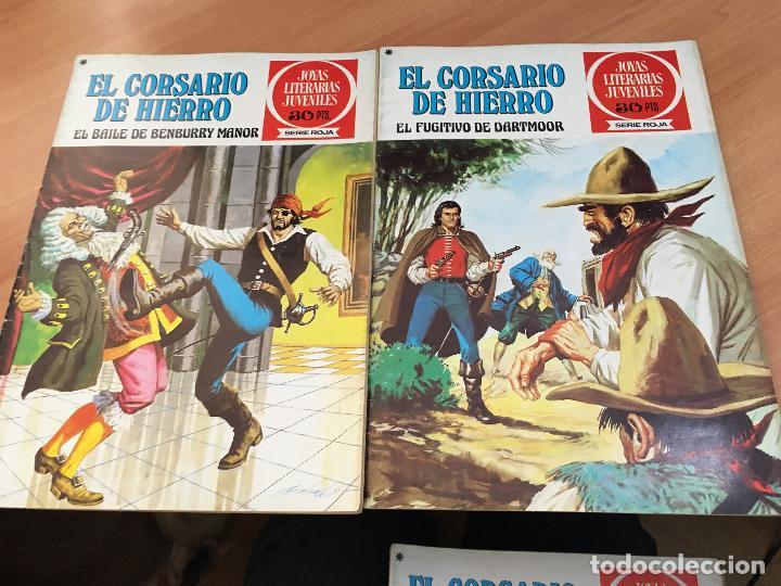 Tebeos: EL CORSARIO DE HIERRO COLECCION COMPLETA 1ª EDICIÓN JOYAS LITERARIAS SERIE ROJA BRUGUERA COIB111 - Foto 20 - 116624703