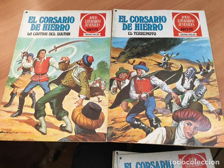 Tebeos: EL CORSARIO DE HIERRO COLECCION COMPLETA 1ª EDICIÓN JOYAS LITERARIAS SERIE ROJA BRUGUERA COIB111 - Foto 21 - 116624703