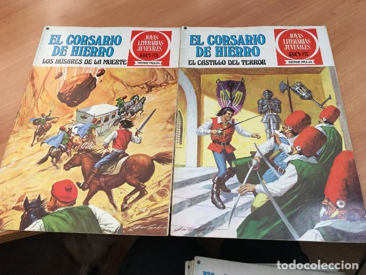 Tebeos: EL CORSARIO DE HIERRO COLECCION COMPLETA 1ª EDICIÓN JOYAS LITERARIAS SERIE ROJA BRUGUERA COIB111 - Foto 23 - 116624703