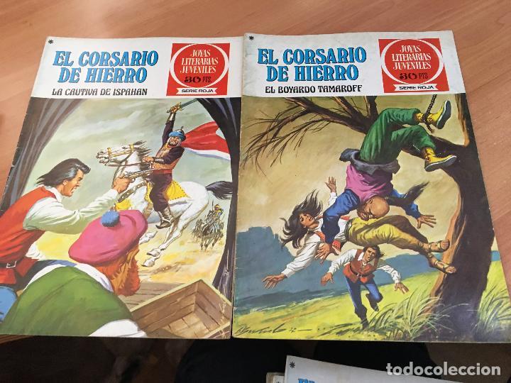 Tebeos: EL CORSARIO DE HIERRO COLECCION COMPLETA 1ª EDICIÓN JOYAS LITERARIAS SERIE ROJA BRUGUERA COIB111 - Foto 24 - 116624703