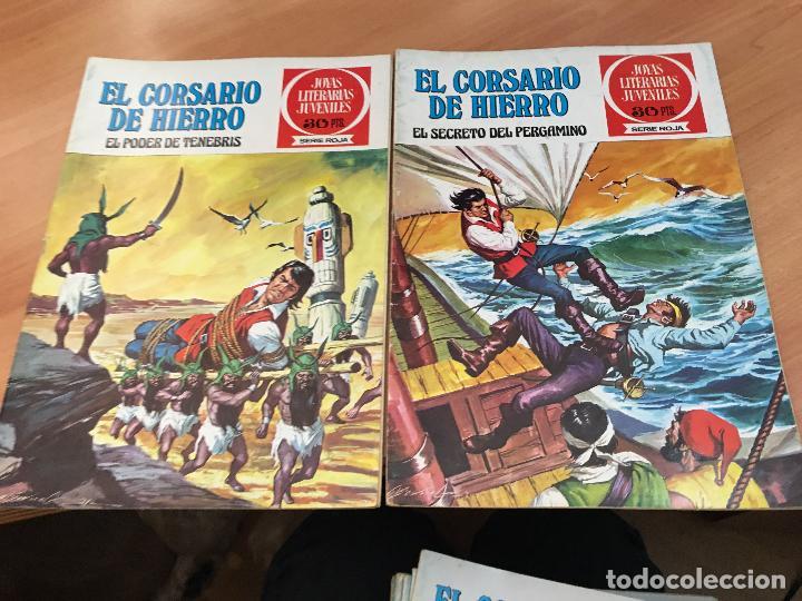 Tebeos: EL CORSARIO DE HIERRO COLECCION COMPLETA 1ª EDICIÓN JOYAS LITERARIAS SERIE ROJA BRUGUERA COIB111 - Foto 26 - 116624703