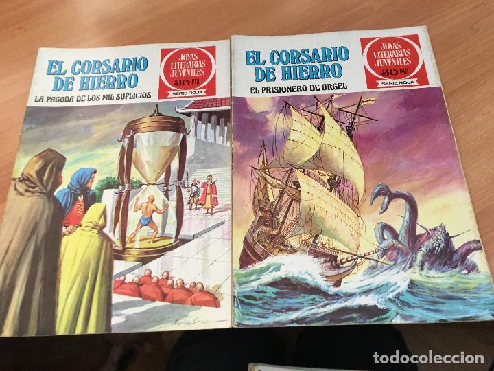 Tebeos: EL CORSARIO DE HIERRO COLECCION COMPLETA 1ª EDICIÓN JOYAS LITERARIAS SERIE ROJA BRUGUERA COIB111 - Foto 27 - 116624703