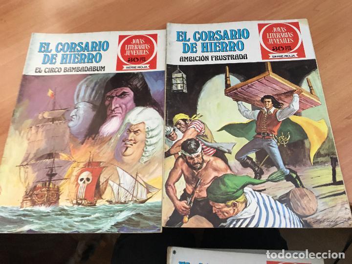 Tebeos: EL CORSARIO DE HIERRO COLECCION COMPLETA 1ª EDICIÓN JOYAS LITERARIAS SERIE ROJA BRUGUERA COIB111 - Foto 28 - 116624703