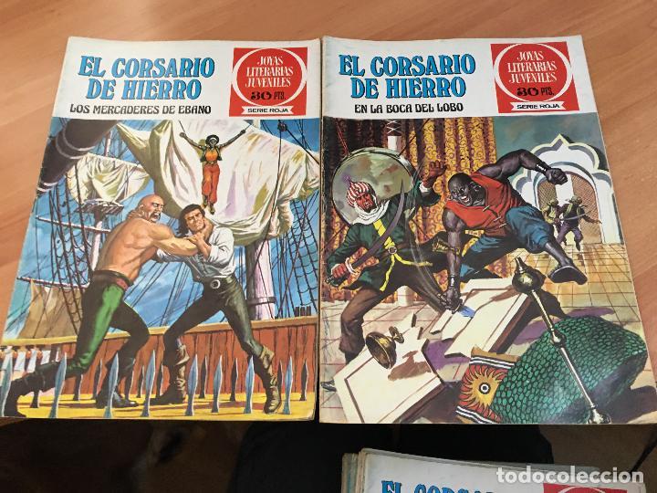 Tebeos: EL CORSARIO DE HIERRO COLECCION COMPLETA 1ª EDICIÓN JOYAS LITERARIAS SERIE ROJA BRUGUERA COIB111 - Foto 29 - 116624703