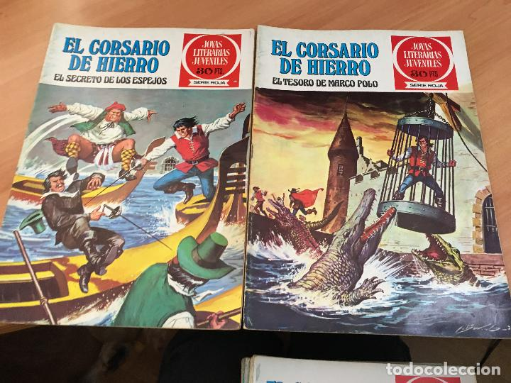 Tebeos: EL CORSARIO DE HIERRO COLECCION COMPLETA 1ª EDICIÓN JOYAS LITERARIAS SERIE ROJA BRUGUERA COIB111 - Foto 30 - 116624703