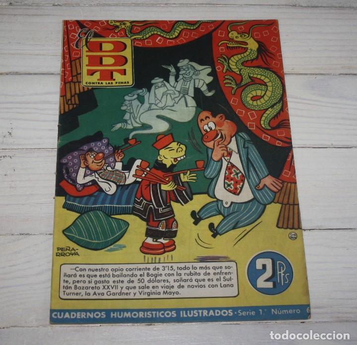 EL DDT - CONTRA LAS PENAS - CUADERNOS ILUSTRADOS HUMORÍSTICOS - SERIE 1 NÚM 6 (Tebeos y Comics - Bruguera - DDT)