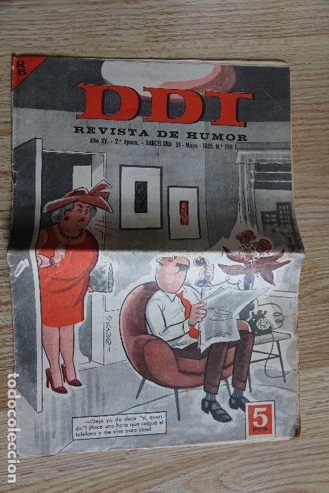 EL DDT REVISTA DE HUMOR AÑO XV 2ª ÉPOCA Nº 726 AÑO 1965 BRUGUERA CREACIONES EDITORIALES (Tebeos y Comics - Bruguera - DDT)