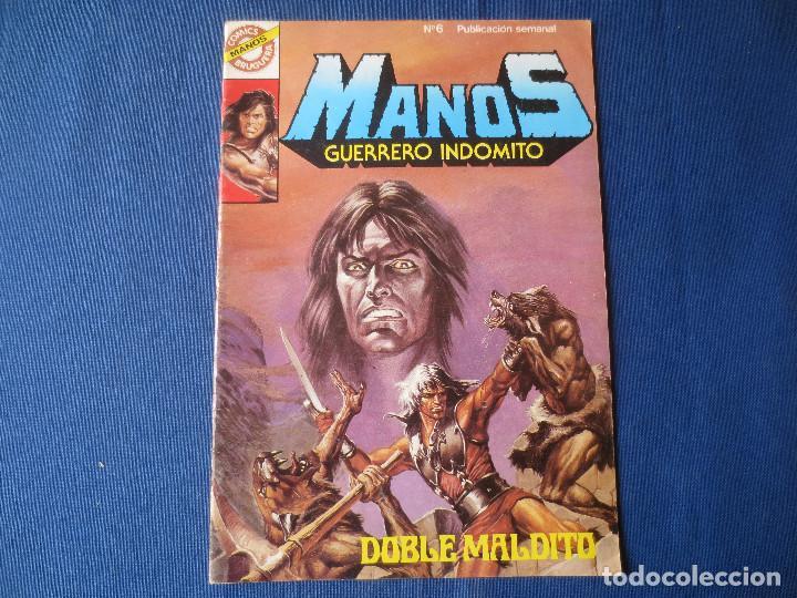 MANOS GUERRERO INDÓMITO N.º 6 - 1984 CÓMICS BRUGUERA - DOBLE MALDITO (Tebeos y Comics - Bruguera - Otros)
