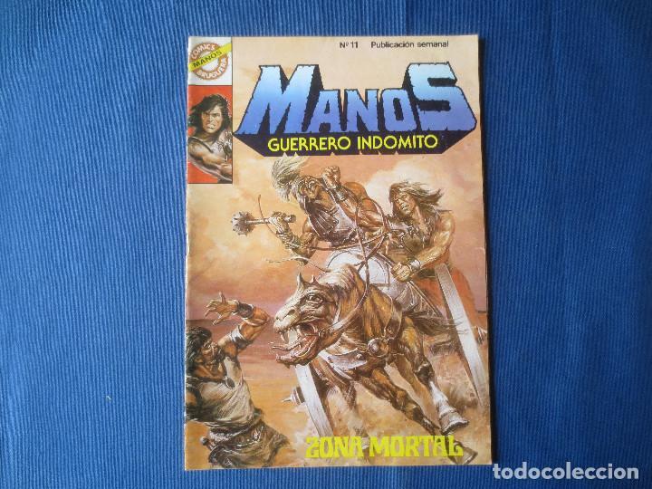 MANOS GUERRERO INDÓMITO N.º 11 - 1984 CÓMICS BRUGUERA - ZONA MORTAL (Tebeos y Comics - Bruguera - Otros)