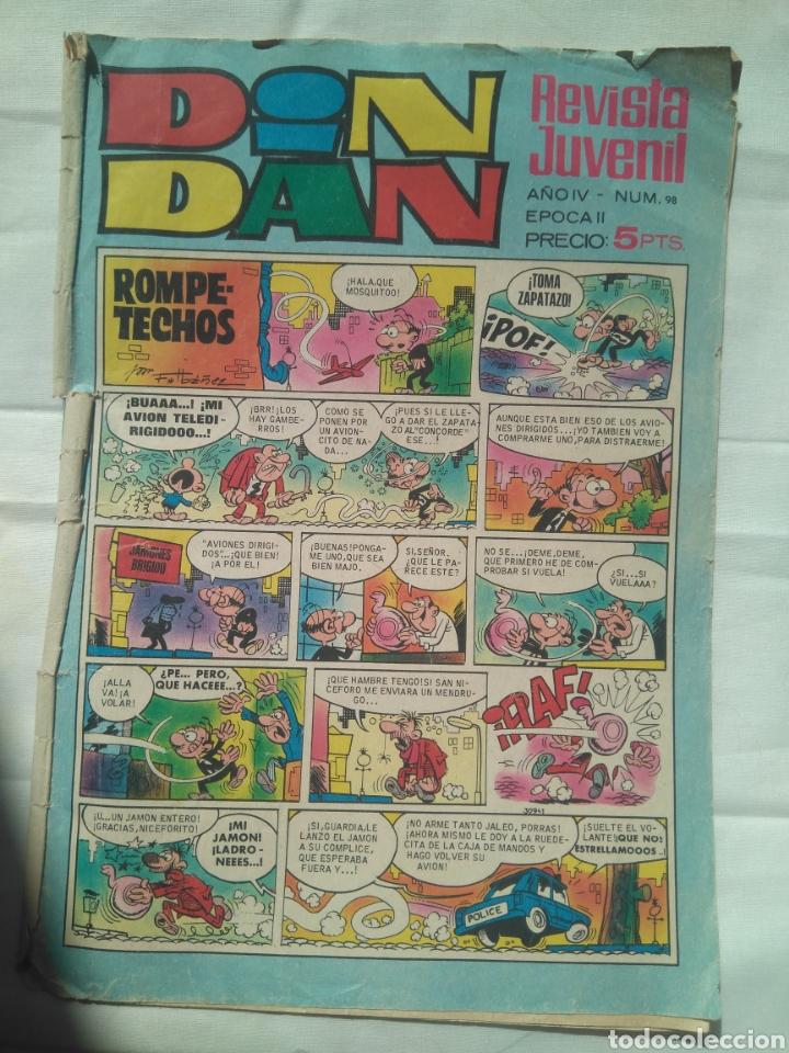 DIN DAN/ AÑO IV NÚMERO 98 ÉPOCA II ,AÑO 1969 BRUGUERA (Tebeos y Comics - Bruguera - Din Dan)