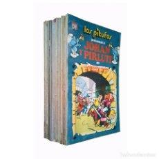Tebeos: LOS PITUFOS Y JOHAN Y PIRLUIT / COLECCION COMPLETA 20 NºS OLÉ / BRUGUERA 80 - 83 (PEYO). Lote 117207159