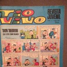 Tebeos: TIO VIVO 347 SEGUNDA EPOCA ED. BRUGUERA 1967 ;DON PEDRITO,13 RUE PERCEBE,HUG, ROMPETECHOS,MORTADELO. Lote 222630306