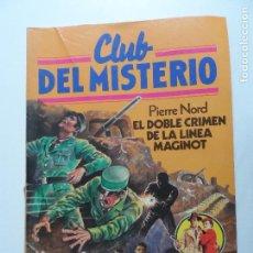 Tebeos: CLUB DEL MISTERIO BRUGUERA Nº 29 EL DOBLE CRIMEN DE LA LINEA MAGINOT. Lote 117617459