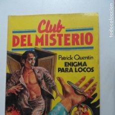 Tebeos: CLUB DEL MISTERIO BRUGUERA Nº 32 ENIGMA PARA LOCOS. Lote 117617543