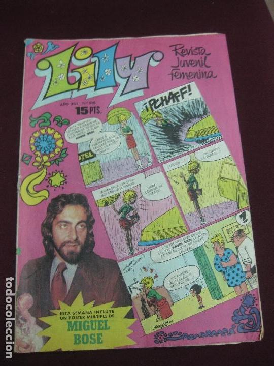LILY Nº 816. INCLUYE POSTER DE MIGUEL BOSE.. KABIR BEDI (SANDOKAN) EN PORTADA. BRUGUERA 1977 (Tebeos y Comics - Bruguera - Lily)