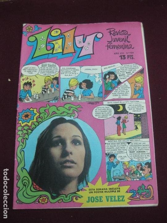 LILY Nº 754. INCLUYE POSTER DE MIGUEL BOSE.. MARY JAMISON EN PORTADA. BRUGUERA 1976 (Tebeos y Comics - Bruguera - Lily)
