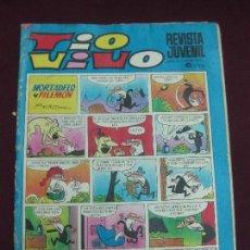 Tebeos: REVISTA JUVENIL TIO VIVO Nº 571. PORTADA MORTADELO Y FILEMON. BRUGUERA 1972. . Lote 117924971