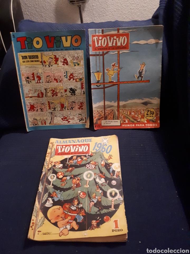 LOTE 3 NÚMEROS TÍO VIVO UNO DE ELLOS ALMANAQUE 1960 (Tebeos y Comics - Bruguera - Tio Vivo)