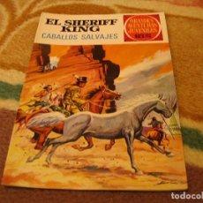 Tebeos: GRANDES AVENTURAS JUVENILES Nº 32 EL SHERIFF KING 1ª EDICIÓN CABALLOS SALVAJES. Lote 118074347